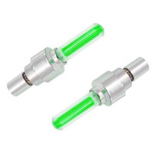 Καπάκι βαλβίδας ποδηλάτου AG304B, LED, 6.5cm, 2τμχ, πράσινο AG304B