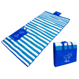 Ψάθα-τσάντα παραλίας AG366 με μαξιλάρι, αδιάβροχη, 175 x 90 cm, μπλε AG366