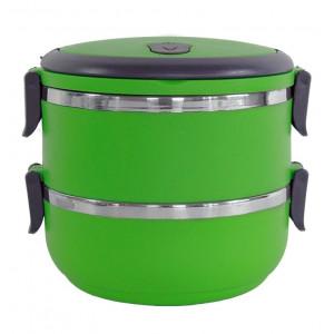 Δοχείο φαγητού AG479A με επένδυση inox, σετ 2τμχ, πράσινο AG479A