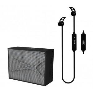 ALTEC LANSING Earphone & speaker, bluetooth 4.1, 10m, 2W RMS, μαύρο AL-BDM614-BK