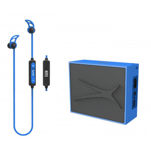 ALTEC LANSING Earphone & speaker, bluetooth 4.1, 10m, 2W RMS, μπλε AL-BDM614-BL