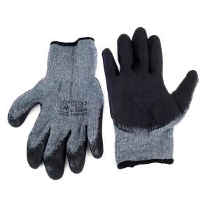 Αντιολισθητικά γάντια εργασίας 02047, γκρι-μαύρο AMIO-02047