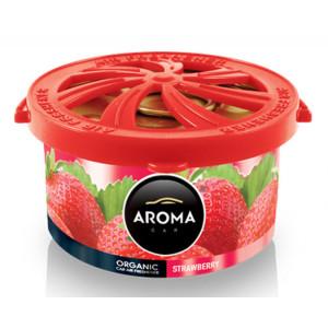 AROMA CAR αρωματικό αυτοκινήτου Organic A92091, 40g, Strawberry AMIO-A92091