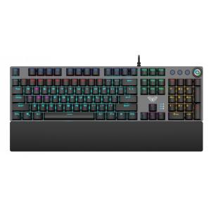 AULA Gaming πληκτρολόγιο F2058, RGB φωτισμός, μηχανικά πλήκτρα, μαύρο AUL-F2058