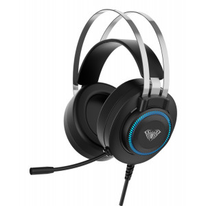 AULA gaming headset S601USB, RGB, USB/3.5mm, 50mm, μαύρο AUL-S601USB