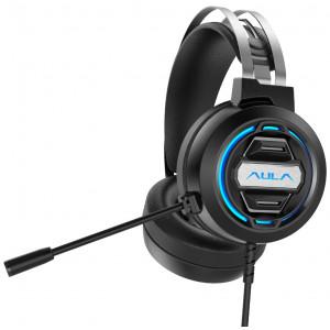 AULA gaming headset S603USB, RGB, USB/3.5mm, 50mm, μαύρο AUL-S603USB