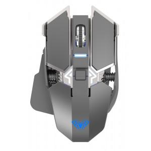 AULA ασύρματο gaming ποντίκι Wind SC300, 1200DPI, 7 πλήκτρα, ασημί AUL-SC300