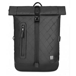 ARCTIC HUNTER τσάντα πλάτης B-00283-RMB με θήκη laptop, αδιάβροχη, μαύρη B-00283-RMB