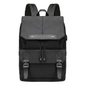 ARCTIC HUNTER τσάντα πλάτης B-00287-RMB με θήκη laptop, USB, μαύρη B-00287-RMB