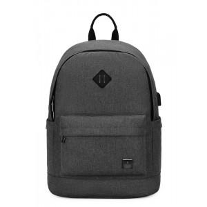 ARCTIC HUNTER τσάντα πλάτης B-00290-BK, laptop, αδιάβροχη, μαύρη B-00290-BK