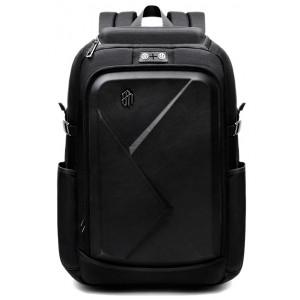 ARCTIC HUNTER τσάντα πλάτης B-00295-BK με θήκη laptop eva πρόσοψη, μαύρη B-00295-BK