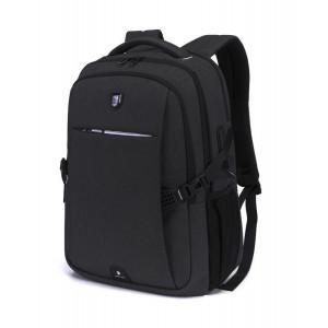 ARCTIC HUNTER τσάντα πλάτης B-00338-BK με θήκη laptop, USB, μαύρη B-00338-BK