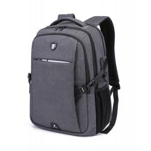 ARCTIC HUNTER τσάντα πλάτης B-00338-GY με θήκη laptop, USB, γκρι B-00338-GY