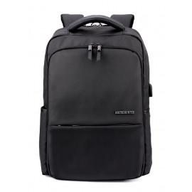 ARCTIC HUNTER τσάντα πλάτης B00069-BK, laptop, USB, αδιάβροχη, μαύρη B00069-BK