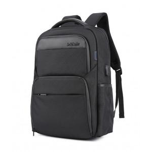 ARCTIC HUNTER τσάντα πλάτης B00113C-BK με θήκη laptop, USB, μαύρη B00113C-BK