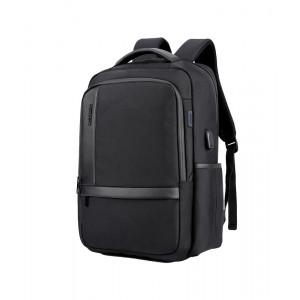 ARCTIC HUNTER τσάντα πλάτης B00120C-BK, laptop, USB, αδιάβροχη, μαύρη B00120C-BK