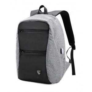 ARCTIC HUNTER τσάντα πλάτης B00207-DG με θήκη laptop, USB, γκρι B00207-DG