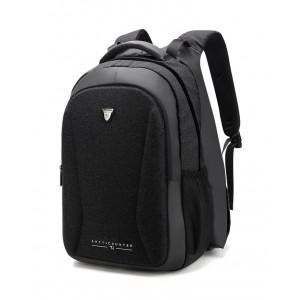 ARCTIC HUNTER τσάντα πλάτης B00211-BK με θήκη laptop, θερμαινόμενη μαύρη B00211-BK