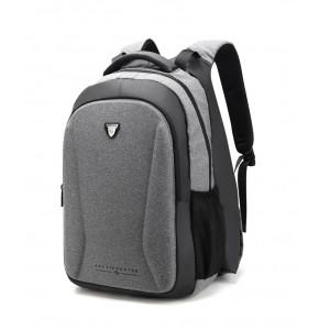 ARCTIC HUNTER τσάντα πλάτης B00211-BK με θήκη laptop, θερμαινόμενη, γκρι B00211-DG