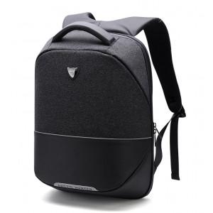 ARCTIC HUNTER τσάντα πλάτης B00216-BK, laptop, USB, αδιάβροχη, μαύρη B00216-BK