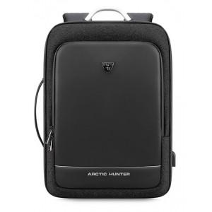 ARCTIC HUNTER τσάντα πλάτης B00227-BK, laptop, USB, μαύρη B00227-BK