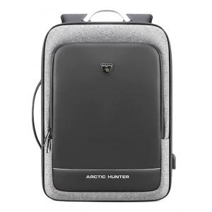 ARCTIC HUNTER τσάντα πλάτης B00227-DG, laptop, USB, ανοιχτό γκρι B00227-LG