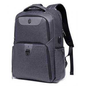 ARCTIC HUNTER τσάντα πλάτης B00266-BK με θήκη laptop, USB, γκρι B00266-DG