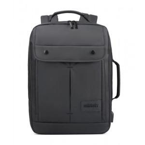 ARCTIC HUNTER τσάντα πλάτης B00325-BK με θήκη laptop, αδιάβροχη, μαύρη B00325-BK