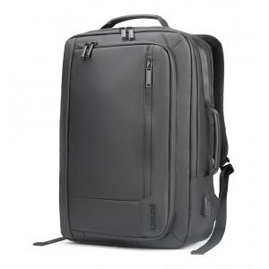 ARCTIC HUNTER τσάντα πλάτης B00330-BK με θήκη laptop, αδιάβροχη, μαύρη B00330-BK