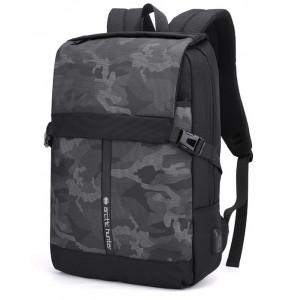 ARCTIC HUNTER τσάντα πλάτης B00352-BK με θήκη laptop, USB, μαύρη B00352-BK
