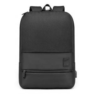 ARCTIC HUNTER τσάντα πλάτης B00360-BK με θήκη laptop, USB, μαύρη B00360-BK
