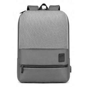 ARCTIC HUNTER τσάντα πλάτης B00360-GY με θήκη laptop, USB, γκρι B00360-GY