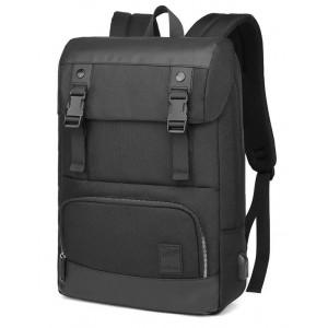ARCTIC HUNTER τσάντα πλάτης B00361-BK με θήκη laptop, αδιάβροχη, μαύρη B00361-BK