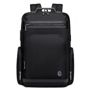 ARCTIC HUNTER τσάντα πλάτης B00415-BK με θήκη laptop, USB, μαύρη B00415-BK
