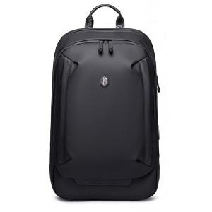 ARCTIC HUNTER τσάντα πλάτης B00443-BK με θήκη laptop 15.6, μαύρη B00443-BK