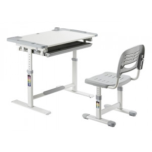 BRATECK σετ παιδικό γραφείο και καρέκλα B301, ρυθμιζόμενο, γκρι B301