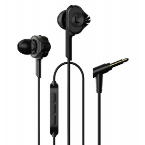 UIISII Ακουστικά Handsfree BA-T6, Dual Dynamic, Hi-Res Audio, μαύρο BA-T6-BK