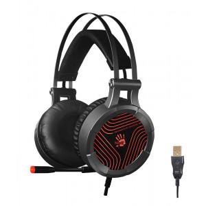 BLOODY Gaming Headset BLD-G530, 7.1CH, 50mm, USB, 105dB, μαύρα BLD-G530