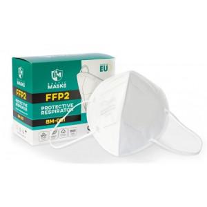 BALTIC MASKS χειρουργική μάσκα FFP2, 5 στρωμάτων, 10τμχ, λευκή BM-001