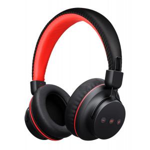 MPOW bluetooth headphones X3.0, fast charging, μαύρο-κόκκινο BMBH142BR