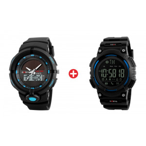 Bundle BNDL-0021 INTIME Smartwatch SW-V02 & Ρολόι χειρός Solar-01 BNDL-0021