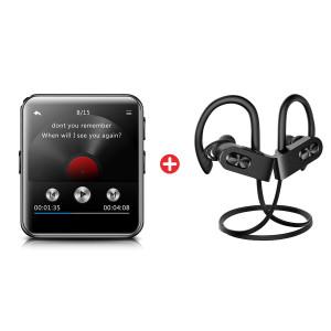 Bundle BNDL-0035 BENJIE MP3 Video Player BJ-A39 & MPOW earphones Flame2 BNDL-0035