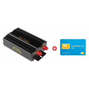 Bundle COBAN GPS Tracker αυτοκινήτου TK103B & προπληρωμένη κάρτα SIM Io3 BNDL-0104
