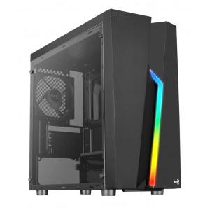 AEROCOOL PC case mini tower BOLT-MINI, 200.7x369.5x381mm, 1x fan, μαύρο BOLT-MINI-A-BK-V1
