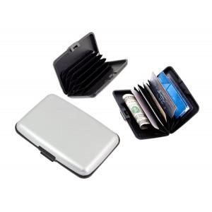 Πορτοφόλι προστασίας ανάγνωσης πιστωτικών καρτών, ασημί BQ31B