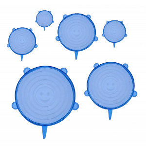 Bruno σετ σιλικονούχων καπακιών για δοχεία τροφίμων BRN-0044, 6τμχ, μπλε BRN-0044