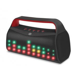 FOREVER BT Φορητό ηχείο BS-610 με LED φωτισμό, FM Radio, Mic, Black BS-610-BK