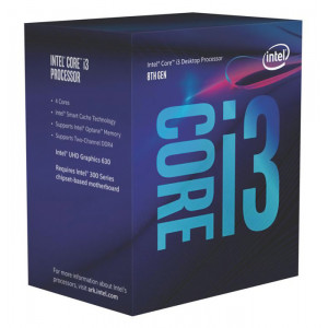 INTEL CPU Core i3-8100, Quad Core, 3.6GHz, 6MB Cache, LGA1151 BX80684I38100