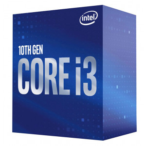 INTEL CPU Core i3-10100F, 4 Cores, 3.6GHz, 6MB Cache, LGA1200 BX8070110100F