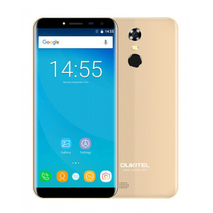 OUKITEL Smartphone C8, 5.5 HD, 2GB/16GB, Quad Core, 3000mAh, Gold C8-GD